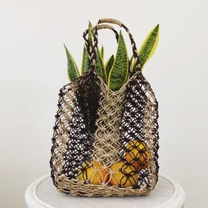 Straw market bag shoulder bag basket bag
